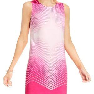 Vince Camuto Optic print shift dress. Size 10